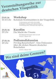 Plakat Veranstaltungsreihe Freiburg