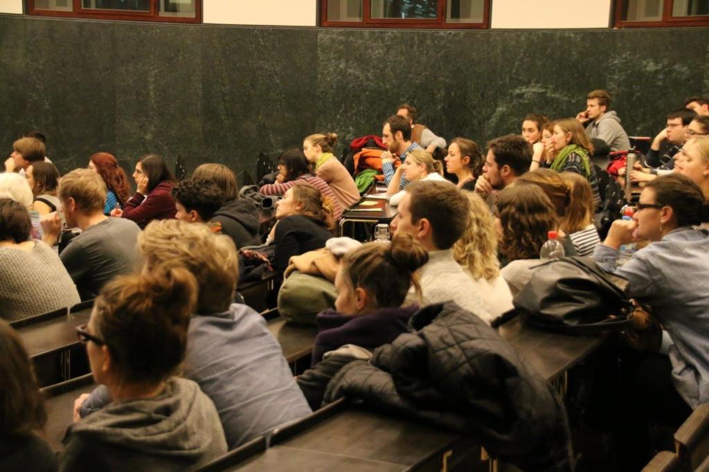 Besucher der Podiumsdiskussion in Freiburg