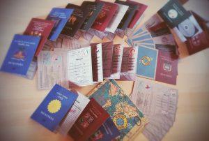 Reisepass-Quartett Spielkartenkollektion