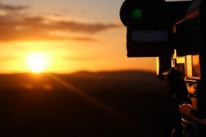 Sonnenuntergang beim Filmdreh